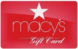 Macys Gift Card Гифт Карта Мейсис в наличие
