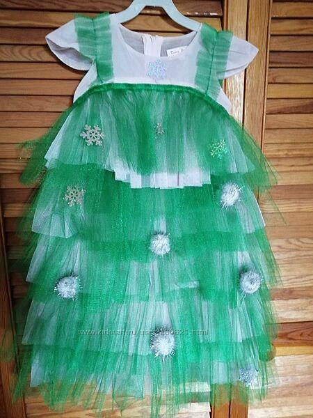 Новогоднее платье Елочка