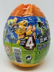 Набор Mega construx Breakout beasts, яйцо со слаймом и сборной игрушкой