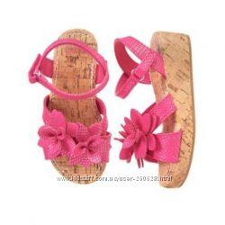 Цветочные босоножки для девочки Gymboree