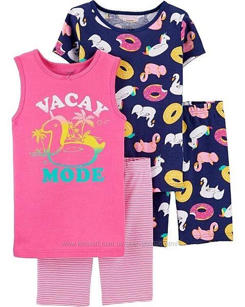 Летние пижамы Carter s на девочек 24 мес, 2, 5, 6 лет