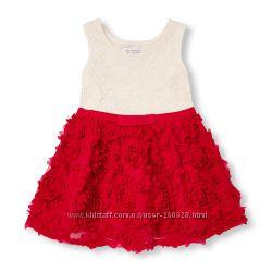 Праздничное цветочное  платье Childrens place для девочек 3, 4, 5 лет