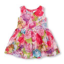 Нарядное платье Childrens place для девочек 2, 3, 4, 5 лет