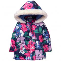 Красивая куртка  с капюшоном  Gymboree для девочки 2 года евро зима