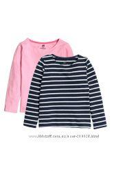 Стильные регланы H&M для девочек 2-4, 4-6 и 6-8 лет