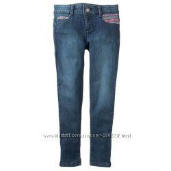 Вышитые узкие джинсы Gymboree для девочки 5 лет