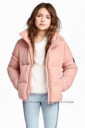 Утепленная куртка H&M для девочки 8-9  лет