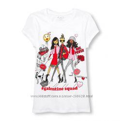 Модная футболка Childrens Place для девочки 5-6 лет