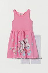 Комплект платье и капри H&M для девочек 2-4 и 4-6 лет