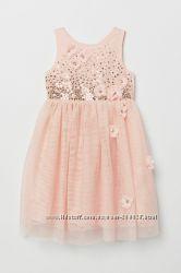 Нарядные праздничные платья H&M для девочек 2-3 и 4-5 лет