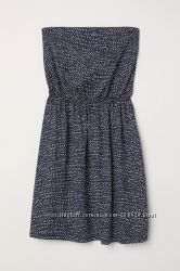 Трикотажное платье без бретелей H&M размер S