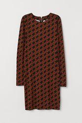 Облегающее трикотажное платье H&M размер 34 XS