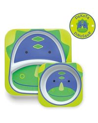 Наборы тарелок  для мальчиков и девочек с рождения Skip Hop Дино и Бабочка