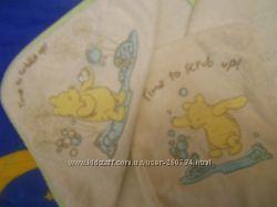 Полотенце уголок с варешкой- мочалкой  ф. Mothercare