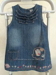 Джинсовое платье сарафан NEXT 9-12 на 1-2 года