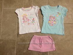 Футболки Mothercare 24-36 юбка-шотры Chicco 92