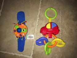 Подвесная музыкальная игрушка Fischer Price и часики на руку KsKids