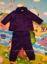 велюровый костюм для девочек  12-18 мес