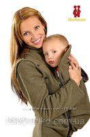 Флисовая слингокуртка-жилетка для беременных