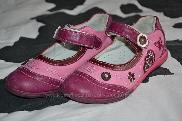 Кожаные туфли 17см