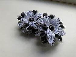 Цветы из репсовой ленты, цена за пару