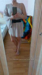 Легкое шифоновое цвета нюд летнее платье-туника размер S-XS 42-44 38, 10