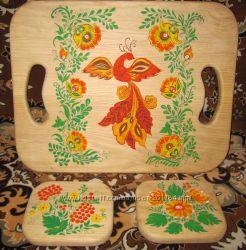 Деревянный поднос  досточка , оригинальный и эксклюзивный подарок