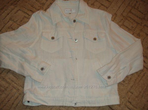 Льняная летняя стильная курточка HENNES collection для H&M