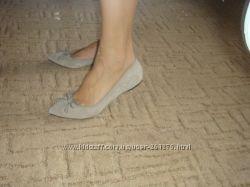 Туфли-балетки замшевые NEXT, текстильные Vagabond