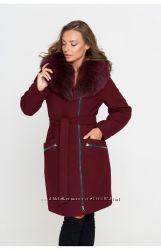 Пальто зимнее кашемировое Belanti 802 с песцовым воротником