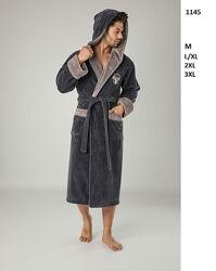 Бамбуковый турецкий мужской халат люкс качества Nusa Нюша