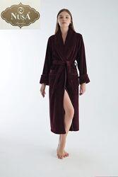 Женский махровый, бамбуковый халат Nusa Турция