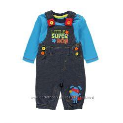 Яркийтрикотажный костюм для мальчика на 6-9 мес