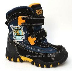 Зимние ботинки для мальчика SUPER GEAR  black-navy
