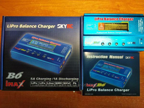 Зарядное устройство SkyRC imax B6. Оригинал. Адаптер, Wi-Fi модуль, термод.