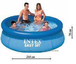 Надувной бассейн Intex 28110 Easy Set 244&times76 см.