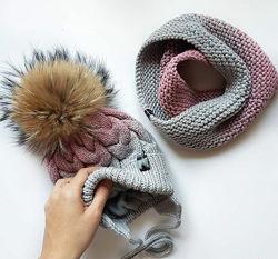 Теплые шапочки и комплекты