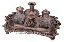 чернильный прибор с подсвечником 19 века