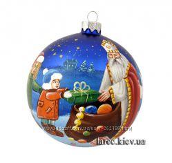Елочный шар Святой Николай ручная роспись