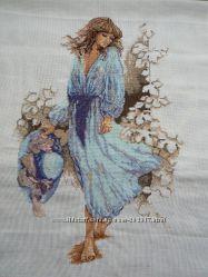 Вышивка Картина Девушка