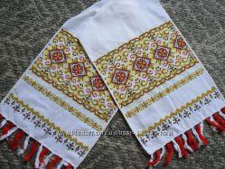 Вышивка Рушник цветной