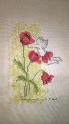 Вышивка Картина Ангел в цветах