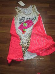 Классная яркая туничка-платье Турция