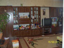 Мебель в гостинную. Стенка коричневого цвета