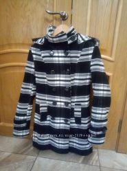 Пальто утепленное кашемир с капюшоном 48р