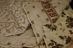 Очень теплое одеяло из овечьей шерсти, полуторное, верх - сатин