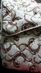 Качественное одеяло из овечьей шерсти в сатине, размер - евро