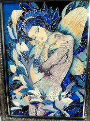 Витражная картина Ночная фея