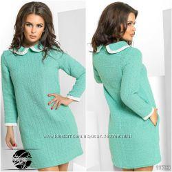 Женское теплое платье, мятный цвет, размер 42-44, S.