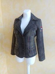 Куртка пиджак Tommy Hilfiger M джинс клетка